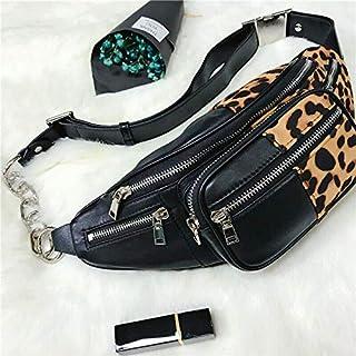 New Womens Attica Leather & Leopard Soft Fanny Pack Bag Shoulder Bag Chest Bag
