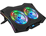 WARRANTY - CONTACT EMAIL - info@live-tech.in , Technical Call - 9892186820 RGB LIGHTS: Live Tech Air laptop cooling pad applies full RGB lights to 2 big fans and both sides with red, green, blue, ice blue, light purple, 10 modes for debugging and cho...