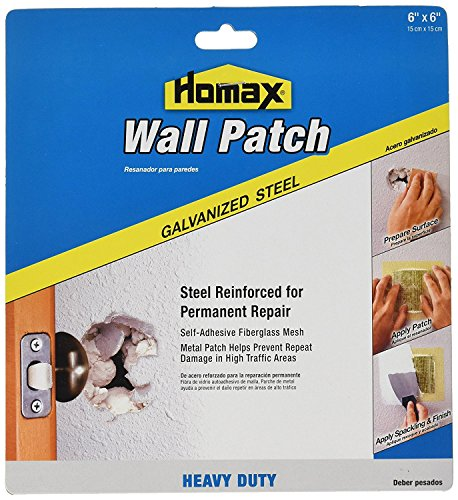 Homax Group 5506 Heavy Duty Self Adhesive Wall Repair Patch, 6-Inch x 6-Inch (2)