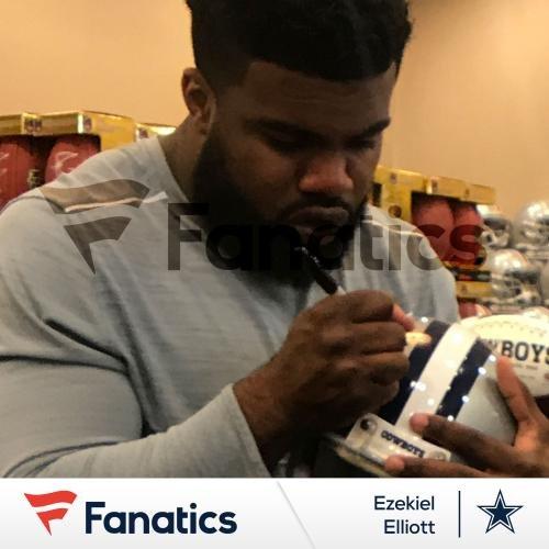Ezekiel Elliott Dallas Cowboys Autographed Riddell Speed Replica Helmet - Fanatics Authentic Certified