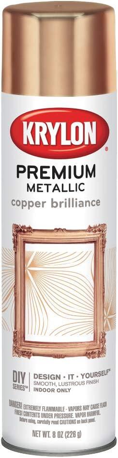 Krylon Premium Metallic Spray Paint Resembles Actual Plating, Copper Brilliance