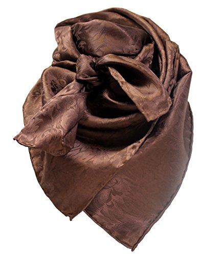 Wild Rag Chocolate Silk Jacquard