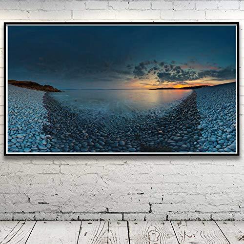 baodanla Geen lijst zee wolken rok seascape kunst zijde stof poster huis wanddecoratie afbeeldingen inches