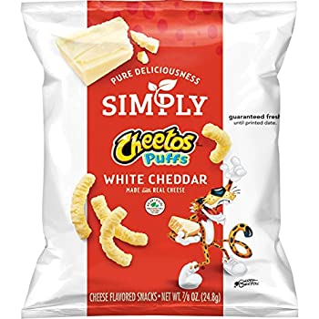 Simply Cheetos Puffs White Cheddar Cheese Flavored Snacks,0.875 Ounce  Pack of 36