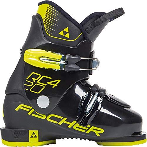 Fischer Unisex Jugend, schwarz/gelb, Junior Skischuhe RC4 20 JR Thermoshape, 22.5, 225