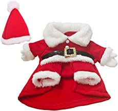 Healifty Pet Christmas Santa Claus Suit Cap Costumes Winter Clothes Coat Warm Outfit Hoodies For Small Dogs Puppy Kitty (XL Red White)