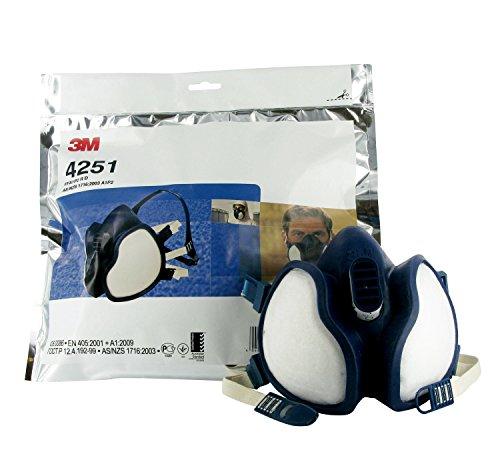3M Atemschutz-Halbmaske Wartungsfrei, FFA1P2R D-Filters, 4251, EN-Sicherheit zertifiziert - 4
