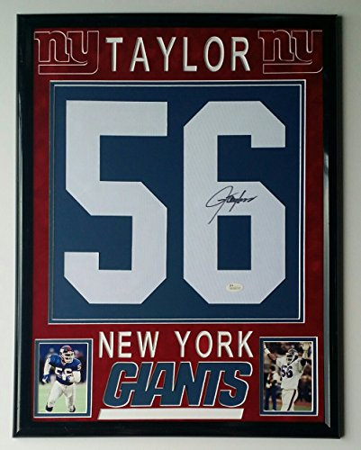 Lawrence Taylor Signed Autographed Jersey Number New York Giants Framed JSA