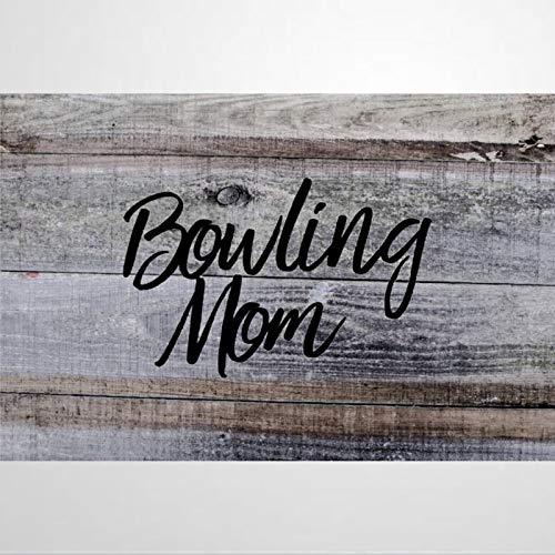 Etiqueta engomada auto de Bowling Mom, vinilo coche calcomanía, decoración para ventana, parachoques, ordenador portátil, paredes, computadora, vaso, taza, teléfono, camión, accesorios de coche