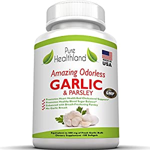 ❤ UNLIKE SOME GARLIC SUPPLEMENT tablets or capsules on the market that are smelly, with a strong bad odor, ineffective, or cheap, OUR Pure Healthland brand GARLIC AND PARSLEY SUPPLEMENT PILLS are truly ODORLESS, very potent, comes in EASY TO SWALLOW ...