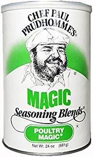 Chef Paul Poultry Magic Seasoning, 24-Ounce Canisters (Pack of 2)