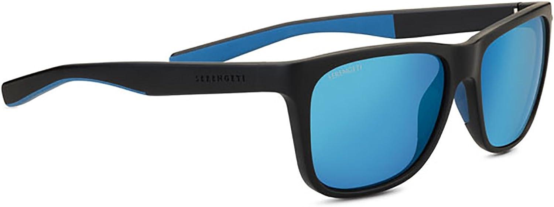 Serengeti Eyewear Erwachsene Livio, Sanded schwarz Blau, Medium B0797N3Q1P  Ausgezeichnete Leistung