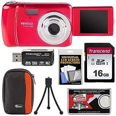 Vivitar ViviCam VXX14 Selfie Digital Camera with 16GB Card + Case + Tripod + Reader + Kit from VIVITAR