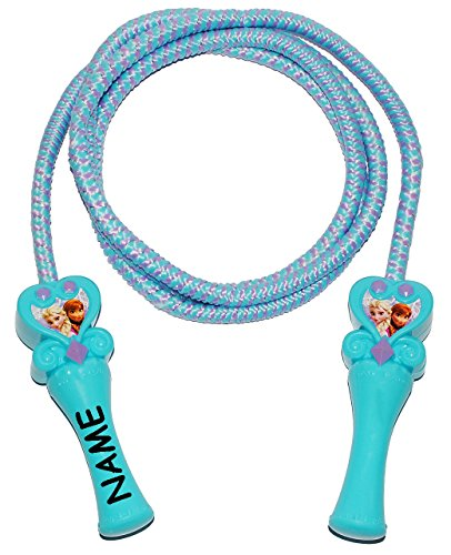 alles-meine.de GmbH Sprungseil / Springseil -  Disney Frozen - die Eiskönigin  - incl. Name - Hüpfseil - Springseile zum Hüpfen / Mädchen - Sport - völlig unverfroren Prinzessi..
