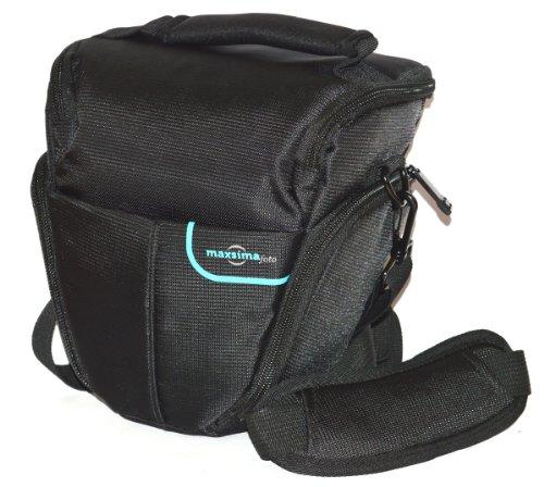 Maxsimafoto - Camera Bag / Case for Panasonic Lumix G6, GH4, GH5, FZ300, FZ330, FZ200, FZ150, FZ70, FZ72, Nikon DL24-500 D3200 D3300 D3400 D5300 D5500 P900 P610 P620 Canon 760D 750D 700D 650D 1200D 1300D Pentax K-S1, K-S2, K30, K50, K500 'Top-loader', Pro Quality Case.