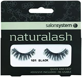 Salon System Naturalash Quick and Easy Re-Usable Black 101 Lashes
