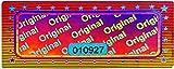 2010 etichette olografiche 3D con numero di serie – 46 x 20 mm argento lucido – Sigillo di sicurezza, sigillo di qualità, marchio di garanzia, etichette di sicurezza, Antifake Sticker Security Label
