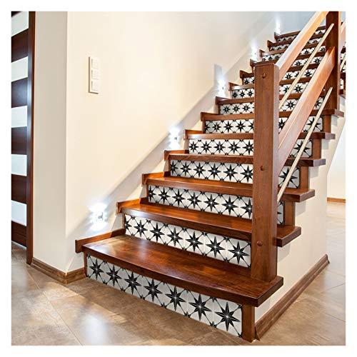 Escaleras pegatinas Escalera fácil de limpiar a prueba de aceite Etiqueta engomada decorativa extraíble para muebles Cuarto de baño Decoración de cocina ( Color : EWF013 , Size : 20x300cmx1 0.6m2 )