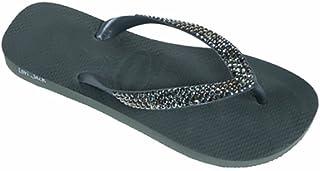 282b052cc Lori Jack Swarovski Crystal Flip Flops (39 40
