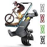 WOEOA Soporte Movil Bicicleta, Soporte Manillar para Smartphone, Anti Vibración Porta Movil Bici Accesorios Compatible con iPhone 12 Mini/ 12/11 Pro MAX/XS MAX/XR, Samsung S20 4.7'-7' Phones
