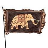 WDDHOME Verzierter indischer hinduistischer Elefant im hohen Detail-Flaggen-Ausgangsdekor-Flaggen-Drucke 3x5 Fuß vibrierende Farben Qualitäts-Polyester und Messingösen