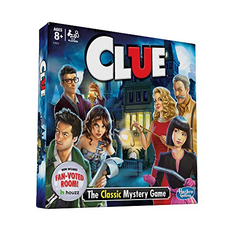 Clue Board c; Features Fan Voted Room; As Seen on Houzz Website; Classic Mystery Game for Kids 8 and Up