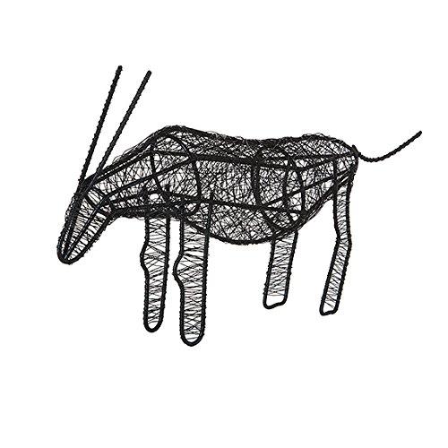 Sia Home Fashion 25cm Eisen Deco Draht Antelope, schwarz
