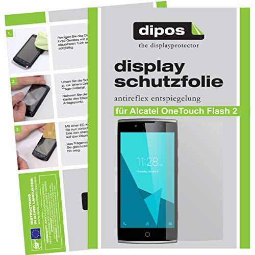dipos I 6X Schutzfolie matt kompatibel mit Alcatel Onetouch Flash 2 Folie Bildschirmschutzfolie