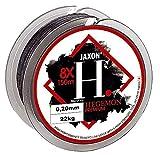 Jaxon HEGEMON - Hilo trenzado para pesca de siluro, 150 m, 0,08 mm, 5 kg, color gris oscuro