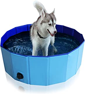 Foldable Pet Bath Tub for Large Or Medium Sized Dogs Outdoor PVC Swimming Pool for Dogs and Cats