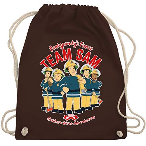 Shirtracer Feuerwehrmann Sam Tasche - Team Sam - Unisize - Braun - turnbeutel feuerwehr sam - WM110 - Turnbeutel und Stoffbeutel aus Baumwolle