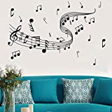 Wall Sticker Decal, Removable Music Notes Notation Band Wall Sticker Art Decal Room Home Decor Gift