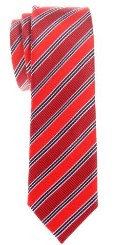 Retreez - Cravate - Rayures - Homme - Rouge - Taille Unique