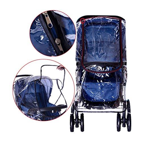 Universel Habillage Pluie Repliant Rain Cover Stroller Imperméable Wind Cover Bébé Raincover Protection Contre Vent et Pluie Transparent Couvertures Anti-UV Epaissir pour Poussette Landau