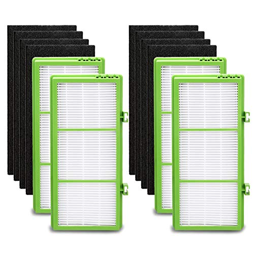 IOYIJOI Filter for Holmes Aer1 Series, Replacement Parts # HAPF300AH-U4R, HAP242-NUC (4 True Filter Replacement + 8 Booster Pre Filter)