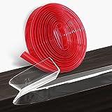 Loiion 5M Protectores para Esquinas y Bordes, Pre-Adhesivo Silicona & PVC Transparente Tira Protectora Borde, Anticolisión Tira para Seguridad Bebés y niños, Suave Protectores para Bordes