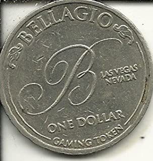 $1 bellagio casino token coin las vegas nevada obsolete