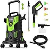 Paxcess Upgraded 3000PSI Pressure Washer, 2.5GPM Portable Electric Power Washer with 360° Spinner Wheels, 4 Quick Connect Nozzles Foam Cannon for Car/Patio/Deck/Home Cleaning