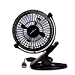 KEYNICE USB Desk Fan, 4 Inch Table Fans, Mini Clip on Fan, Portable Cooling Fan with 2 Speed, USB Powered Stroller Fan, 360° Rotate USB Fan, Personal Quiet Electric Fan for Home Office Camping- Black (Renewed)