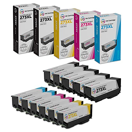 LD Remanufactured Ink Cartridge Replacements for Epson 273XL High Yield (3 Black, 2 Cyan, 2 Magenta, 2 Yellow, 2 Photo Black, 11-Pack)