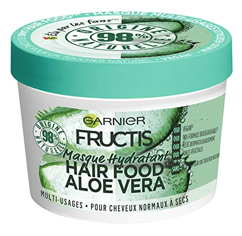 Garnier Fructis Hair Food Mascarilla multiusos Aloe 390 ml – Lote de 3