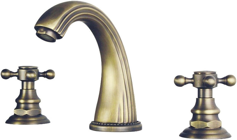 Nostalgie Retro 3Loch Armatur Waschbecken Waschtisch Sanlingo Bronze