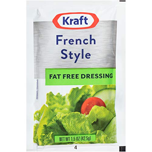 Kraft Fat Free French Salad Dressing Single Serve Packet (1.5 oz Packets,...