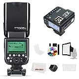 Godox Flash TT685-S TT685S 2.4 GHz HSS 1/8000s GN60 Cámara Flash Speedlite con X2T-S X2S 2,4 GHz X System Trigger for Sony Camera (TT685S +X2T-S)