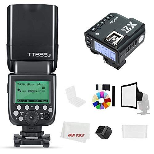 Godox Flash TT685-S TT685S 2.4GHz HSS 1/8000s GN60 Camera Flash Speedlite con X2T-S X2S 2,4GHz X-System Trigger per fotocamera Sony (TT685S + X2T-S)