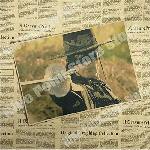 wqmdeshop Cartel Vintage La Leyenda del Zorro Antonio Banderas Catherine Zeta Jones Legend Movie Poster Póster Retro Decoración del Hogar 50X70Cm (N: 3616)
