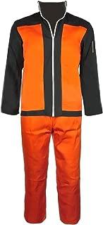 Anime Naruto Cosplay Costume for Men Shippuden Uzumaki Naruto Costumes Jacket & Pants