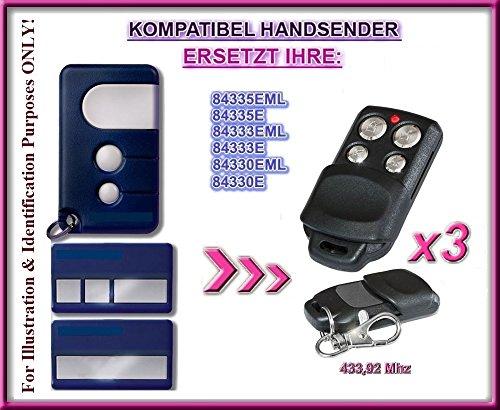 3 X Motorlift 84330EML, 84333EML, 843334EML, 84335EML-old kompatibel handsender, ersatz sender, 433.92Mhz rolling code. 3 Stücke Top Qualität ersatzgeräten!!!