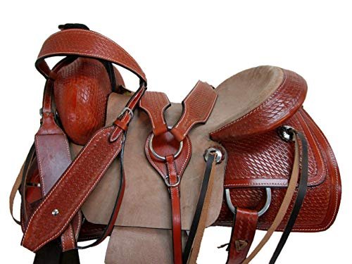 Orlov Hill Leather Co 15 16 17 Roper Ranch Roping Wade Type Trail Pleasure TACK Horse Western Saddle (15 Inch)