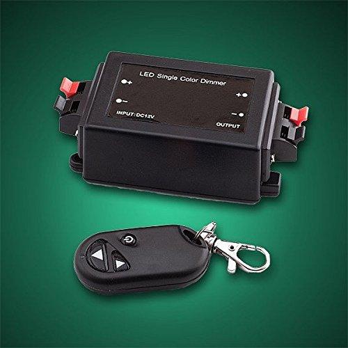 KIMILAR Dimmer Kontroller für LED Leisten 8A 12V/24V + Funk Fernbedienung